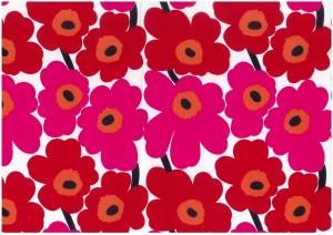 お花をたくさんあしらった、明るく華やかな表紙デザインの見本